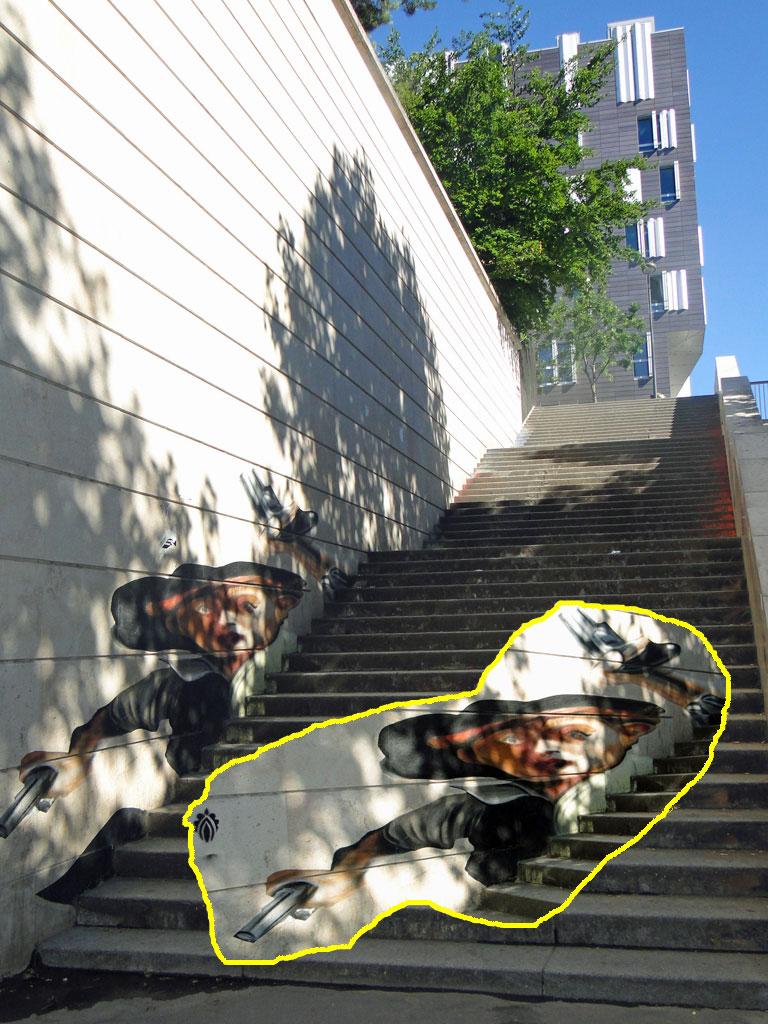 Gavroche-survivant-escalier