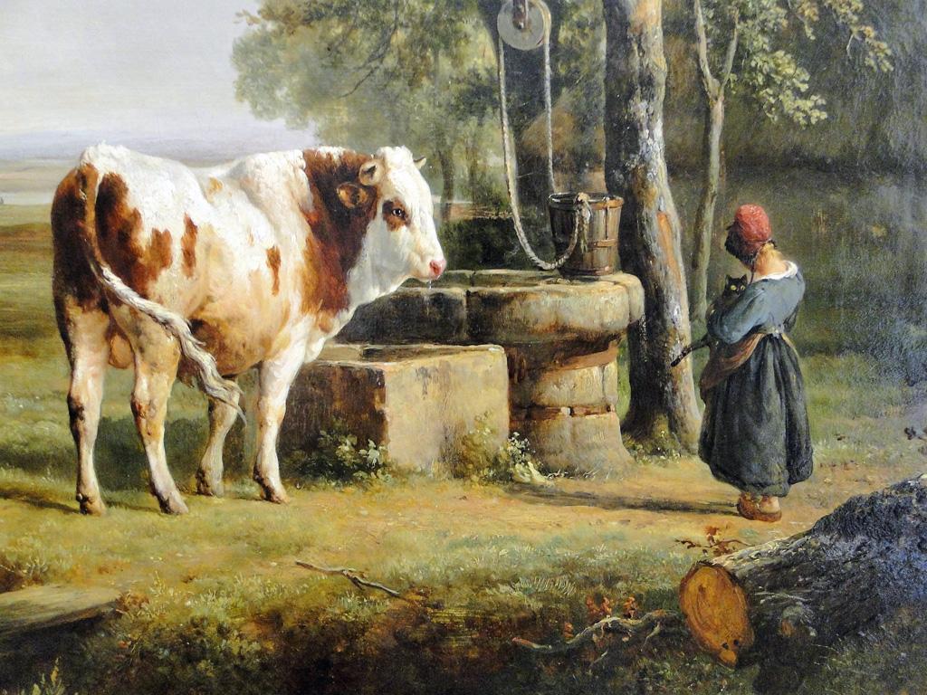 Vaches en Peinture