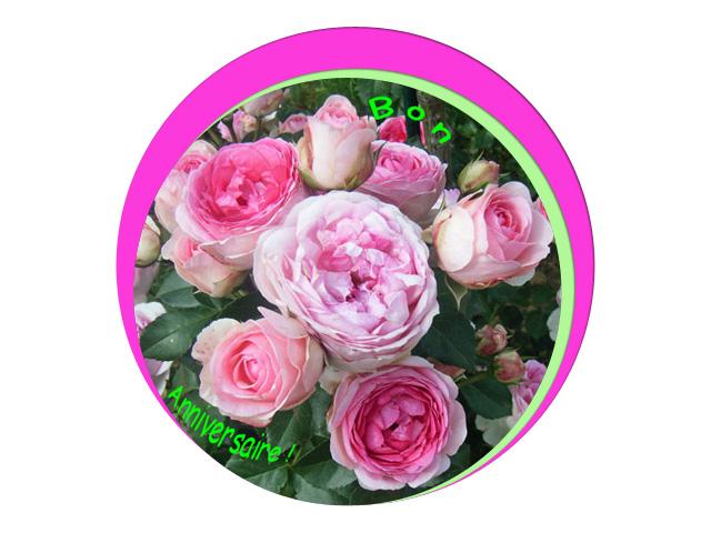 Roses en bouquet...d'anniversaire