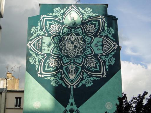 Obey, mur2 rue Jeanne d'Arc