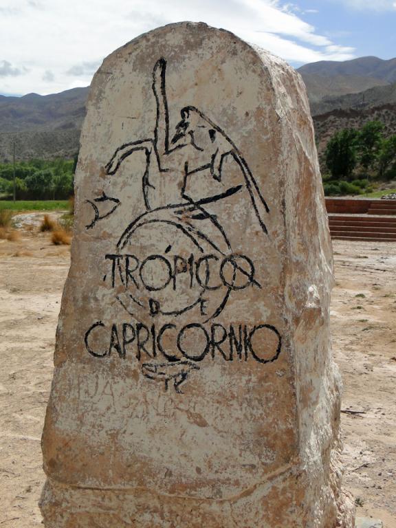 Capricorne, stèle tropique