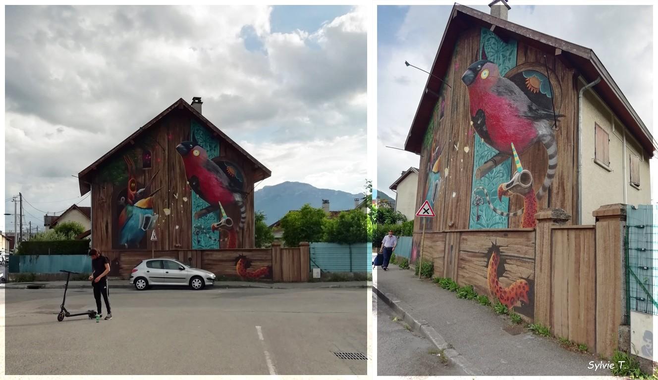 façade oiseaux