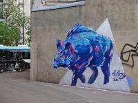 bleu sanglier