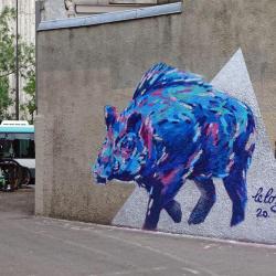 Sanglier bleu
